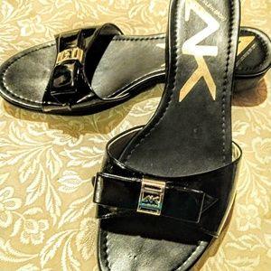 Anne Klein Sport Black Patent Sandal